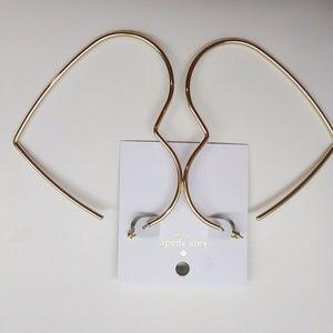 Kate Spade New Large Gold Heart Loop Earrings